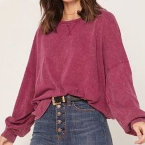 NWT Free People vintage wash long sleeve top